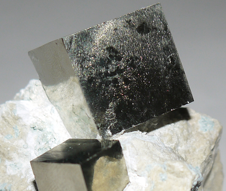 Pyrite Cubes on Matrix