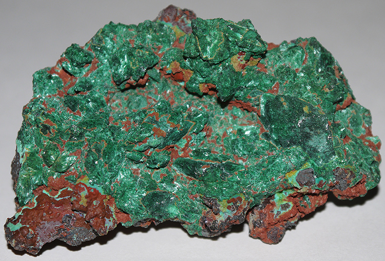 Malachite over Azurite Pseudomorph