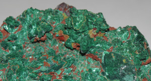 Malachite over Azurite Pseudomorph