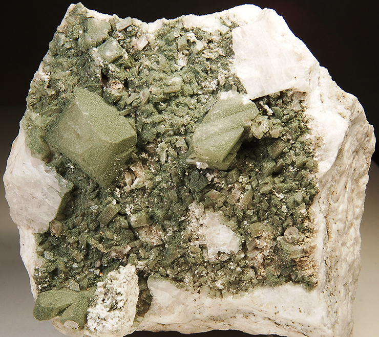 Orthoclase variety Adularia with Apatite