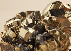 Pyrite Crystals with Galena